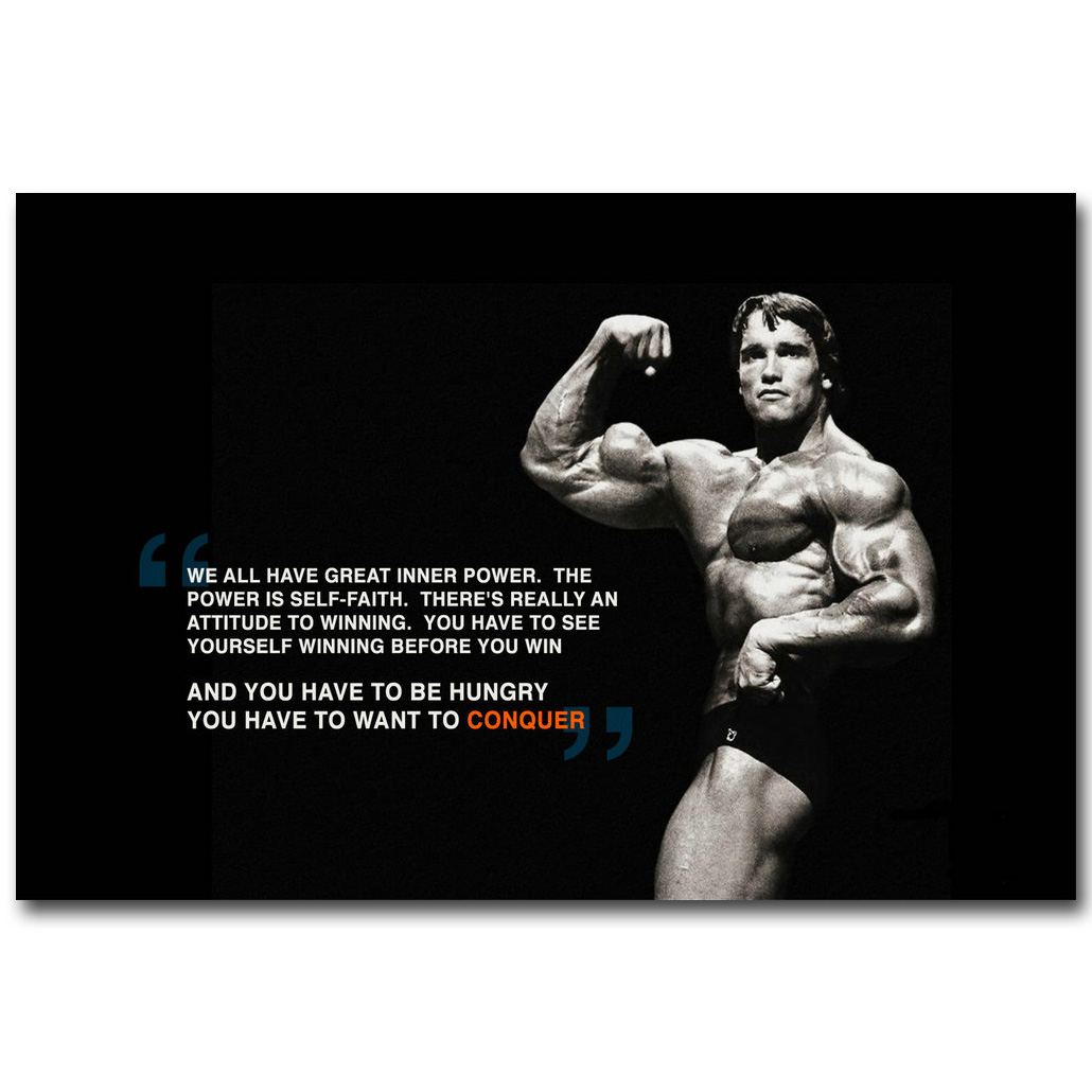 Arnold Schwarzenegger Bodybuilding Motivational Quote Art Silk Poster Print  Fitness Inspirational Picture For Room Wall Decor 31 In Painting U0026  Calligraphy ...