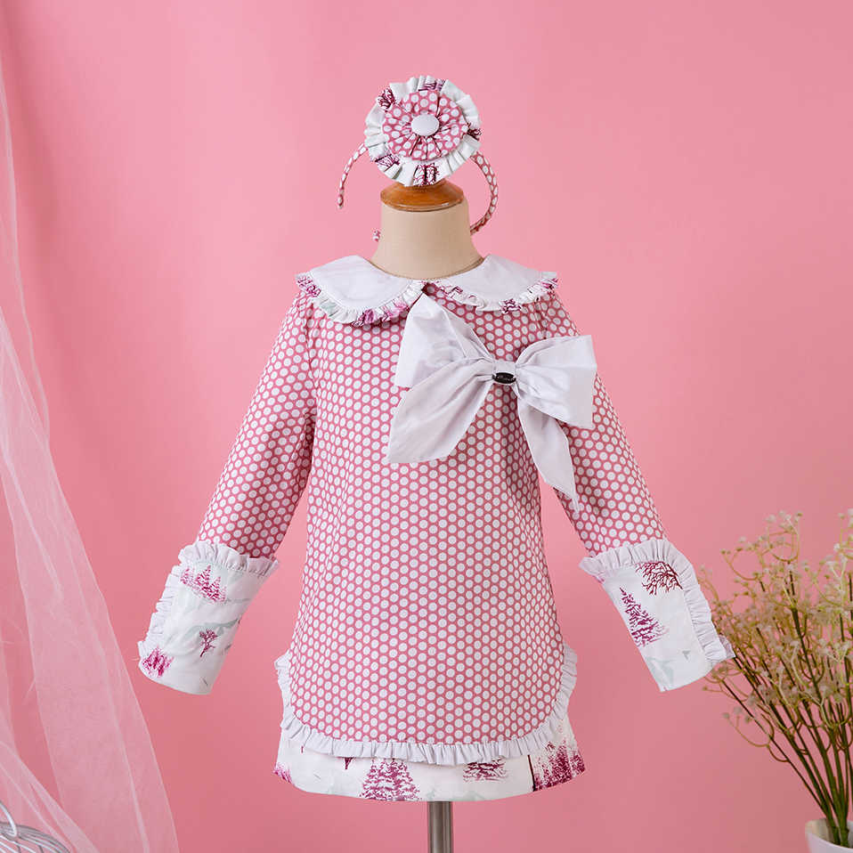 Pettigirl Retro Style Dress Pink Princess Dress Party Dresses for Girls  With Baby Headhand And Bowtie 220daea4959b