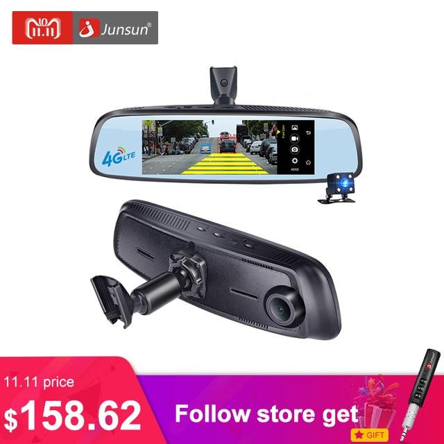 """Junsun K755 специальные автомобильные видеорегистраторы 4 г LTE видеомагнитофон ADAS зеркало заднего вида с DVR и камеры Android 5 видеорегистратор 7.86"""" Регистратор"""