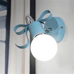 Простые современные светодиодный настенный светильник Цвет гладить прикроватные бра DIY витая бра E27 лампы светильники