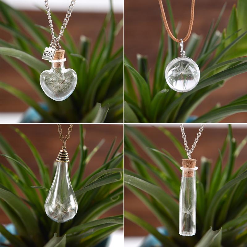 Dandelion Wish Vial Necklaces