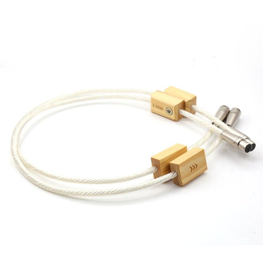 Livraison gratuite Nordost Odin 2 argent Suprême Référence interconnexions XLR équilibre câble pour amplificateur lecteur CD