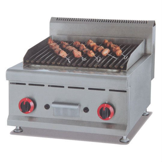 PKJG GB589 Counter Top Gas Lava Rock Grill for Commercial Kitchen-in ...