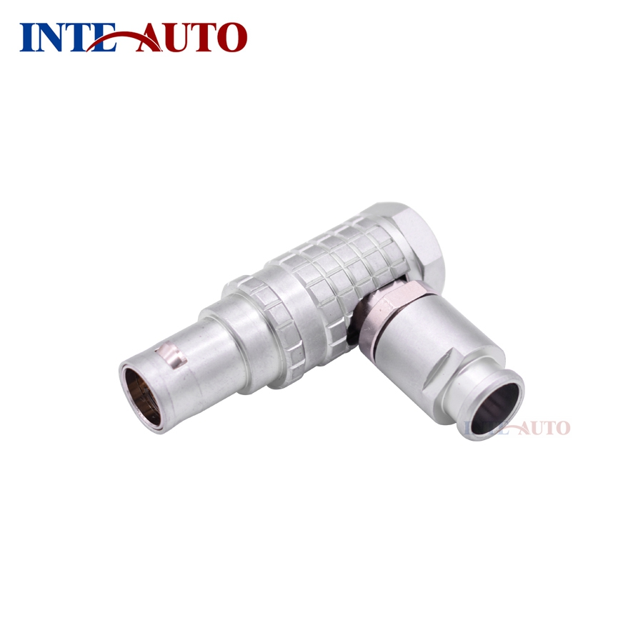 Replacement LEMOs connector,Cable elbow plug, 7 pins Metal push pull self-locking circular male connector, FHG.1B.307