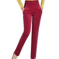 high waist casual pants corduroy velvet pants plus size 7xl trousers women