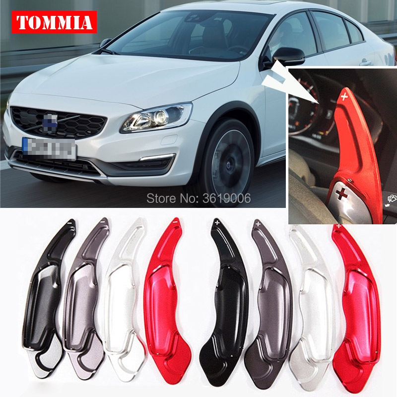 tommia For Volvo S80 2014 2017 2pcs Steering Wheel Aluminum Shift Paddle Shifter Extension Car styling in Steering Wheels Steering Wheel Hubs from Automobiles Motorcycles