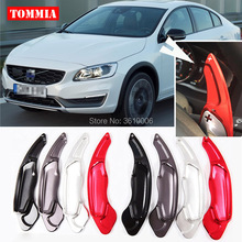 tommia For Volvo S80 2014-2017 2pcs Steering Wheel Aluminum Shift Paddle Shifter Extension Car-styling все цены