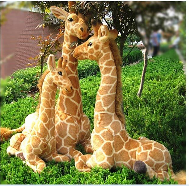 trijų dalių sėdi žirafos žaislų pliušinė simuliacija žirafa lėlės dovanų lėlė apie 53cm, 70cm, 85cm 0556