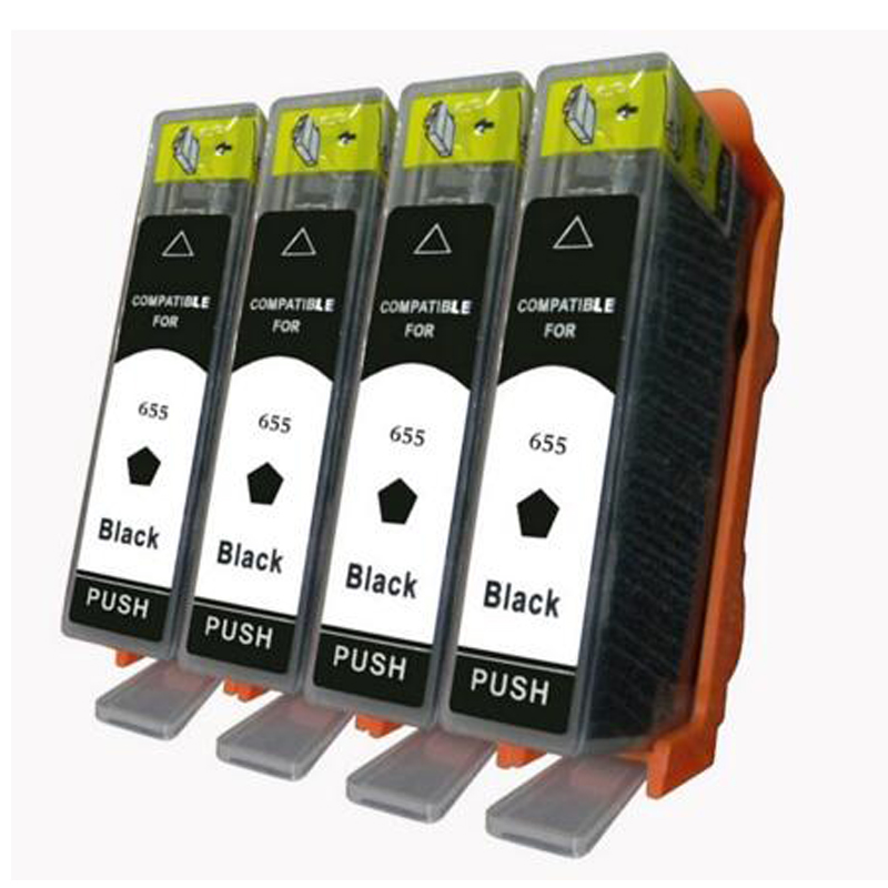 4 PCS Black hp 655 XL hp655 655XL Compatible Ink Cartridge For HP Deskjet 3525 4615 4625 5525 6520 6525 Printer with chip compatible ciss for hp655 hp 655 for hp deskjet 4615 4625 3525 5525 with ink level chip