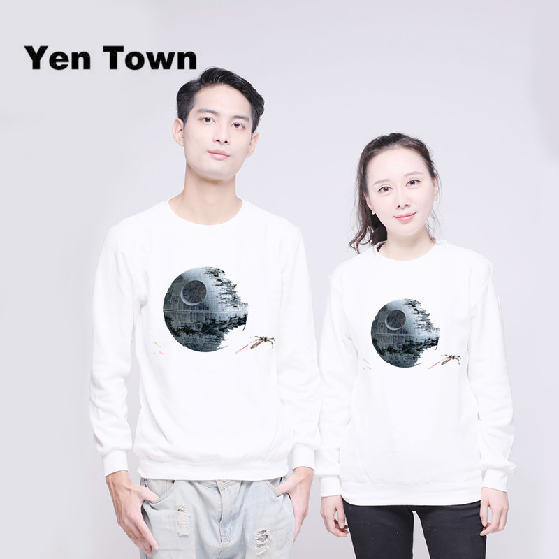 Men's Clothing Yen Town Fashion Death Star Hoodies Unisex Jumper Sweats Warm Harajuku Sweatshirt Autumn Winter Pullover S-4xl Moderate Price