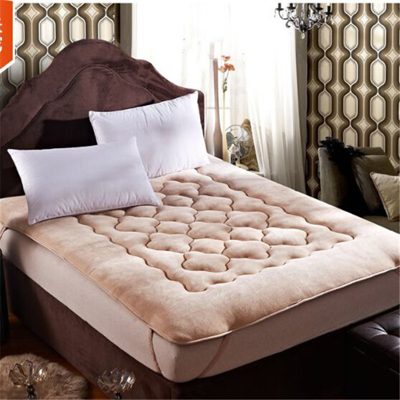 100% Flannel Coral Fleece Thick Bed Mattress Protector Cover Sheets Thick  Warm Winter Bed Matress Fir Kids In Mattress Covers U0026 Grippers From Home U0026  Garden ...