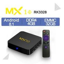 MX10 4 Гб DDR4 64 GB eMMC Android 8,1 9,0 ТВ коробка RK3328 4 ядра 4 K HDR 2,4 ГГц WI-FI USB 3,0 Smart Декодер каналов кабельного телевидения Media PK MX9 PRO