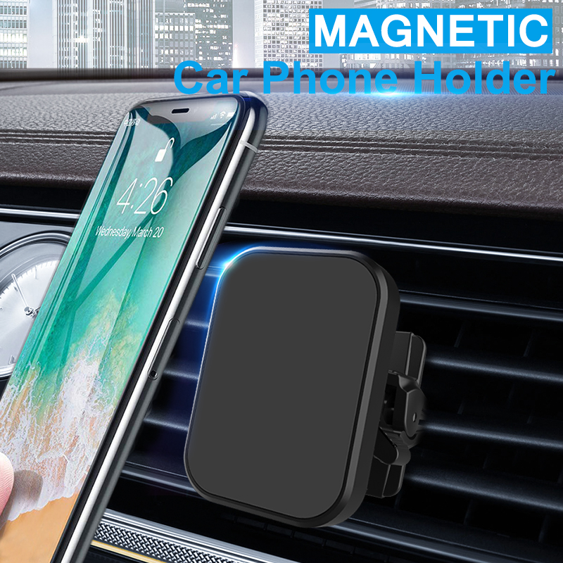 XMXCZKJ Universal Adjustable 360 Rotation Cell Phone Holder Car For Xiaomi Pocophone F1 Air Vent Mount Magnet Cell Phone Stand