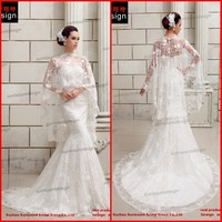 SMT201413 Newest Design Real Sample Newest Design Real Sample Beautiful Lace Mermaid Sweep Train White Wedding