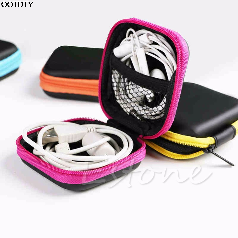 Portable Mini Storage Pouch Bag Headphone Earphone Headset Earphone Bag Case Hot #L060# new hot