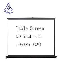 Thinyou 50 дюймов 4:3 HD легко носить проектор экран Руководство pull подпушка тип регулируемая высота для дома отель удобно применение