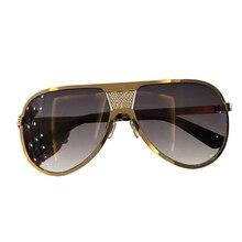 Homens Óculos De Sol de Marca Designer de Alta Qualidade Oculos de sol Masculino Vintage Da Moda Eyewear Liga Piloto Óculos de Sol Masculinos para Homens