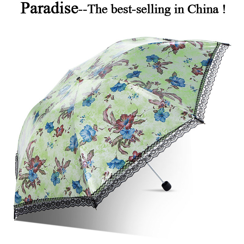 Latest Transparent Umbrella Chic Printed Parasol Ladies Compact Rain Umbrella