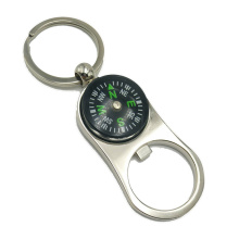 Hot Sale Explosion Compass Opener Keychain Creative Gift Practical To Open The Key Ring