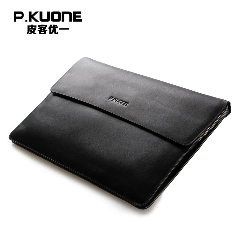 P.KUONE Genuine Leather Clutch Bag 2018 Fashion High Quality Top Men Wallets Luxury Brand Purse Messenger Bag Casual Evening Bag brand double zipper genuine leather men wallets with phone bag vintage long clutch male purses large capacity new men s wallets