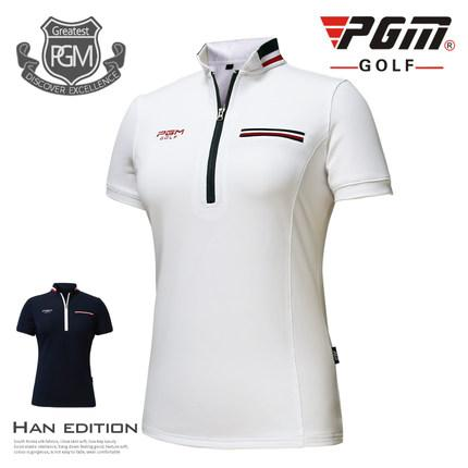 PGM 2017 new Golf Wear Women's Golf T-Shirt Summer Breathable quick-drying Short Sleeve Golf T-shirt <font><b>86</b></font>% <font><b>Polyester</b></font> <font><b>14</b></font>%<font><b>Spandex</b></font> image