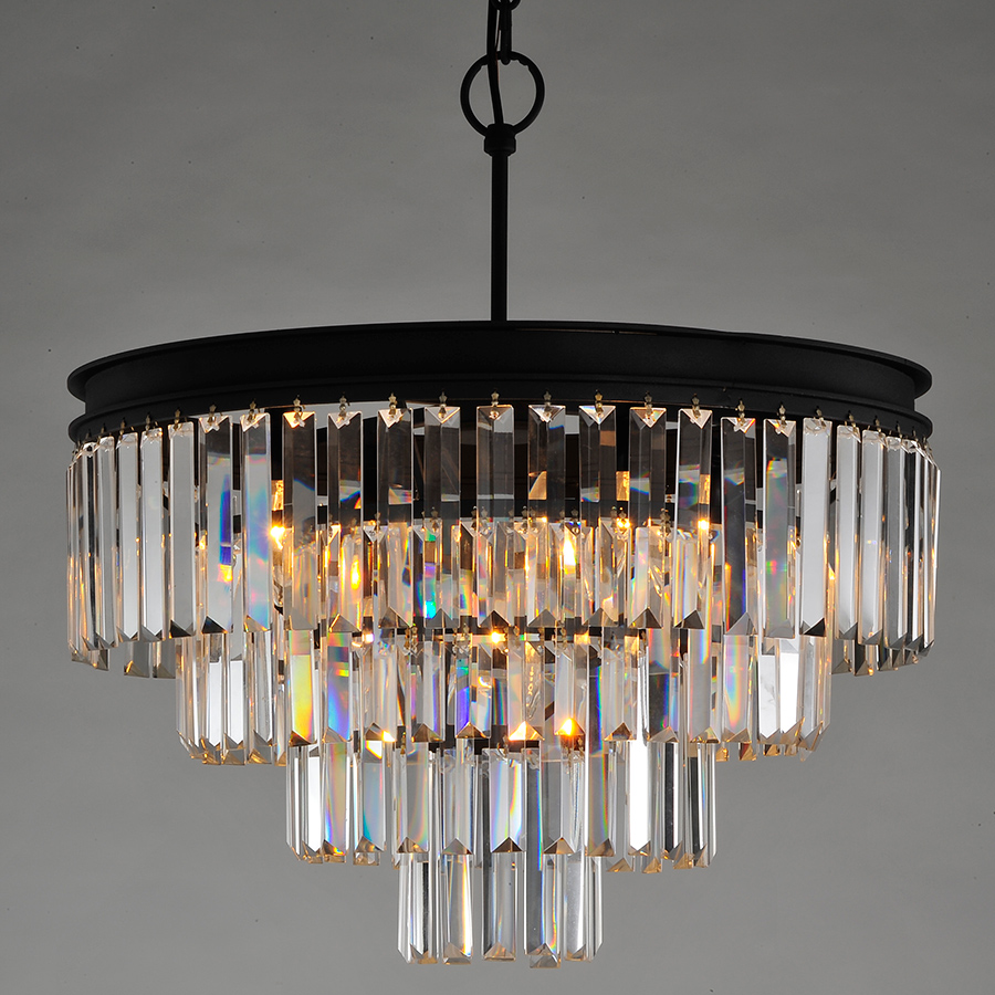 faceted of a glass modern from dangle sleek tiers metal convertible frame chandelier in angled layered pin prism sparkling for prisms layers