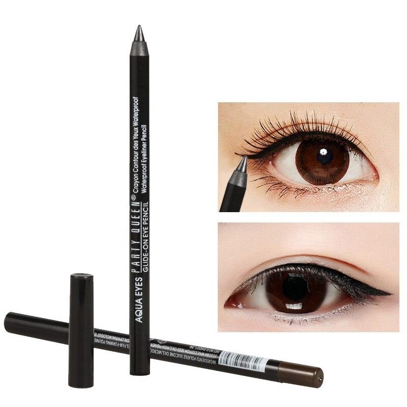 2 цвета Eye Liner Pencil Макияж Долгое Водонепроницаемый Смоки шелковистой глаза лайнер чёрный; коричневый Цвет Косметическая подводка для глаз ав...