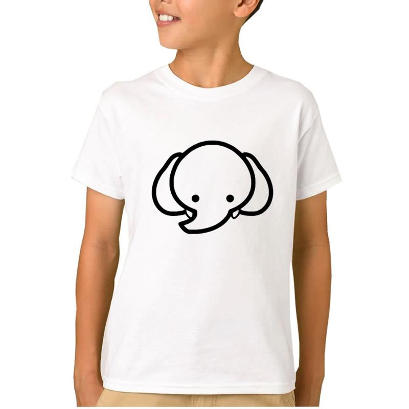 2018 Fashion Elephant Kawaii Print Boys Clothes Children T-Shirts for Girls Tshirt Kids 100% Cotton Toys 2-10 Years Old tops