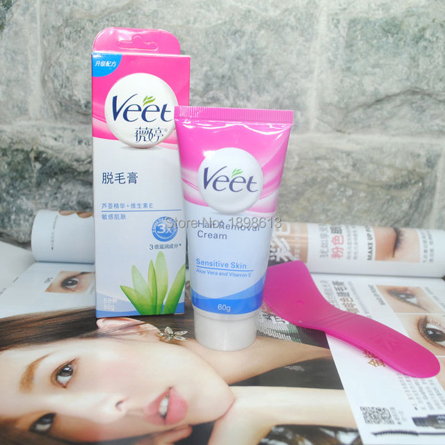 Veet Hair Painless Depilatory Cream Natural Formula Aloe Vera Ve