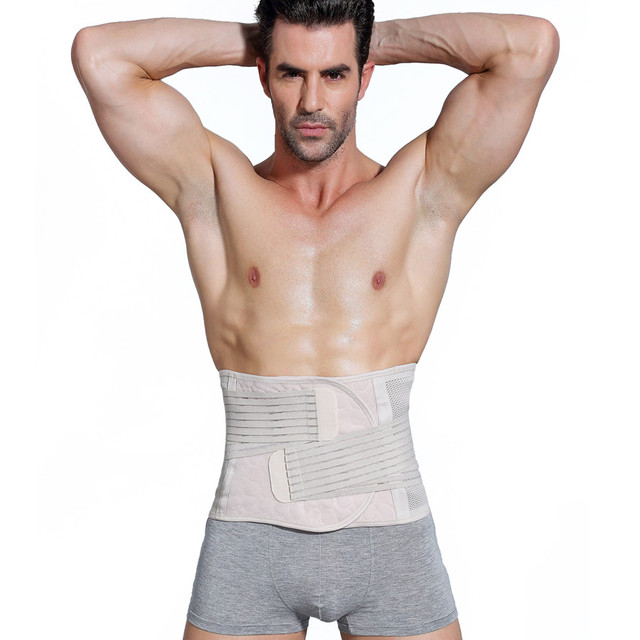 Men's Slimming Belt Body Shapers Belt Compression Corset Fitness Girdles Waist Cincher Trainer Trimmer Abdomen Fat Burning Tummy 3