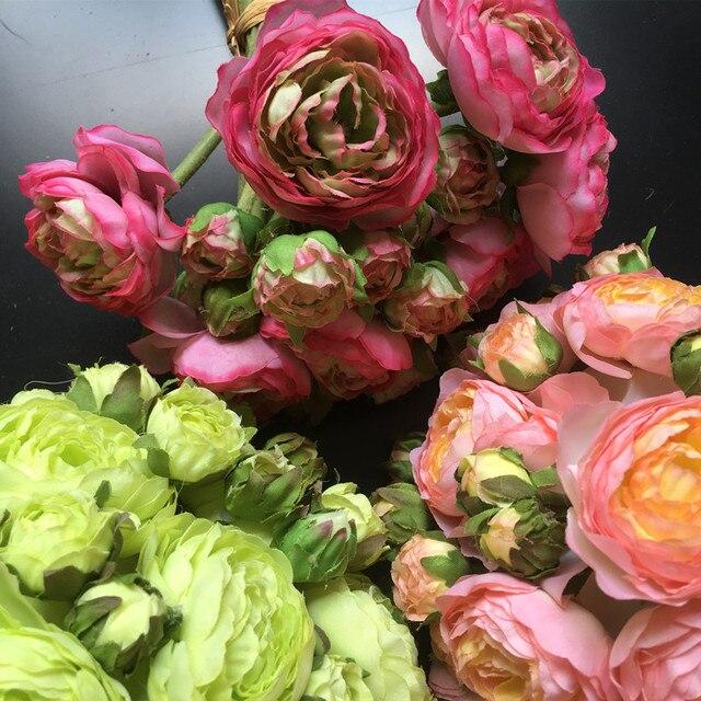 Aliexpress buy wholesale 50 bundles bride flower 30 headsstem wholesale 50 bundles bride flower 30 headsstem rose bunch tea rose bouquet silk flower mightylinksfo