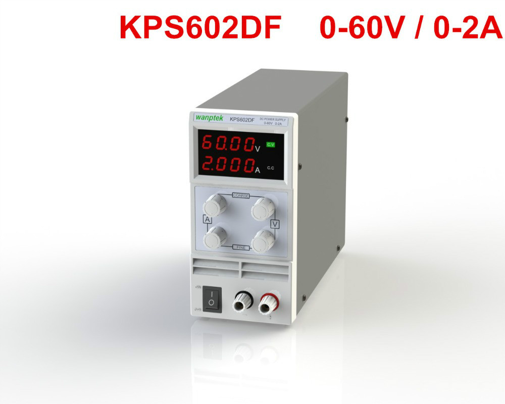 KPS602DF Adjustable High precision double LED display switch DC Power Supply protection function 60V2A 110V-230V 0.1V/0.001A EUKPS602DF Adjustable High precision double LED display switch DC Power Supply protection function 60V2A 110V-230V 0.1V/0.001A EU