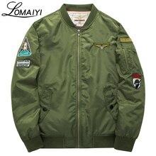 LOMAIYI 6XL мужской женский курточка бомбер для мужчин ВВС пальто 2017 Весна Военная Униформа ветровка пилот Бейсбол куртки, BM003
