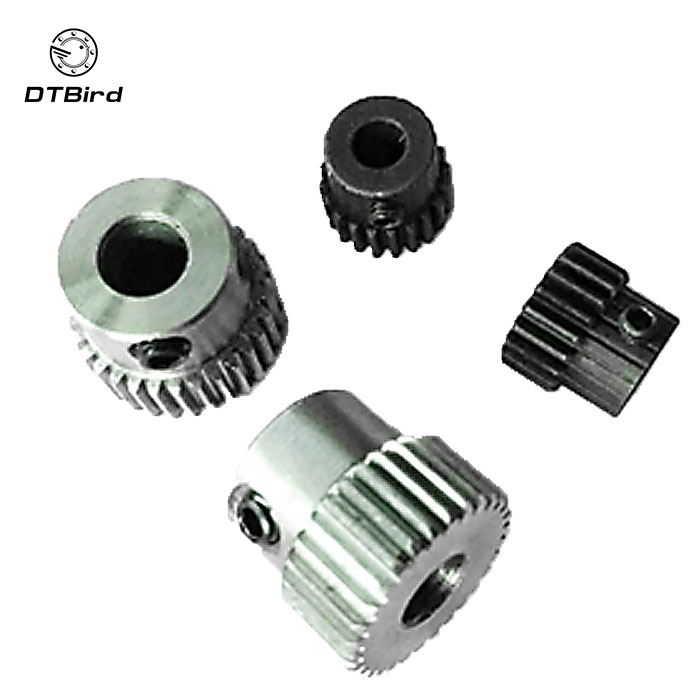 2pcs/lot 0.6M 15 16 17 18 19 Teeth (hole=3/3.17/4/5/6mm) Carbon Steel Convex Copper Motors Gear Machining Parts