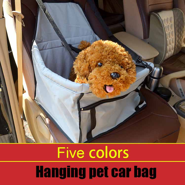 Protable Pet dog Booster Car front Seat Puppy Dog Cat carrier Travel bag bed for small dog Pet car seat cover Travel Accessories