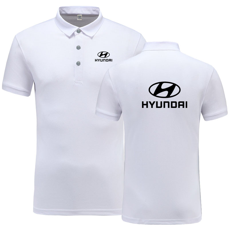 New Summer Short-sleeve   Polo   Homme High Quality Cotton Fashion Hyundai logo Print   Polo   Shirt Casual Business Camisa   Polo