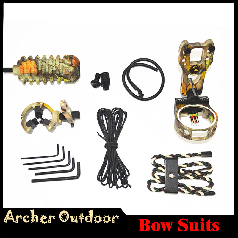 Arrow rest,Bow Stabiliser peep suits compound /& Recurve Bow Archery Bow Sight