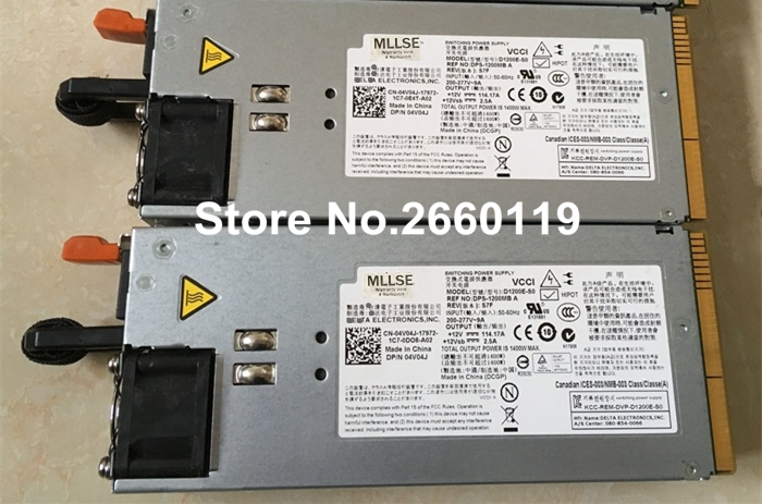 Server power supply for D1200E-S0 D1200E-S1 0KJYY0 KJYY0 04V04J 4V04J RN0HH 0RN0HH , fully tested
