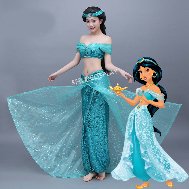 Wonder woman Aladin Jasmine cosplay Princess cosplay costume Adult Halloween wonder woman Costumes for party sexy Jasmine dress