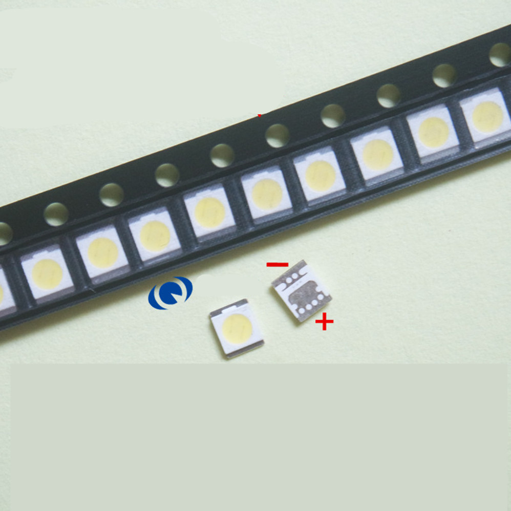 300piece/lot FOR Seoul SMD Lamp Beads <font><b>2835</b></font> Seoul <font><b>1W</b></font> <font><b>3V</b></font> 3528 Cool White Light Repair LCD TV <font><b>LED</b></font> 100%NEW image