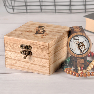 Image 5 - Custom LOGO Printing Your Own Photo Men Watch Unique Bamboo Wood Wristwatch Creative Gift For Lovers or Families