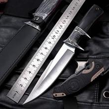Высокое качество Открытый тактический Альпинизм фиксированный нож поле выживания Ножи обороны Охота Кемпинг портативный нож s