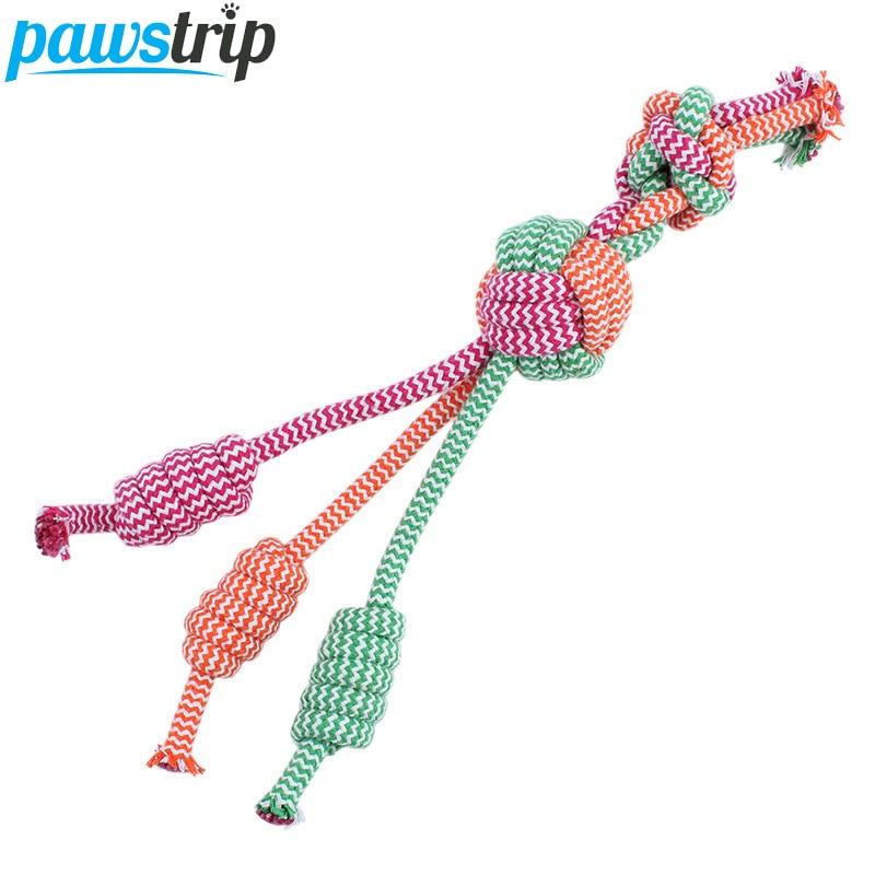 Kokvilnas pītas lolojumdzīvnieku suns Košļājamā rotaļlieta smieklīgi treniņu kucēnu suņu rotaļlietas