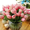 31 unids/lote PU falso Artificial flor ramo flores de seda de flores para boda fiesta casa decoración flor