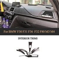 Отделки приборной панели для BMW F30 F32 F36 3 4 серии 320i 328d 328i 420i 428i 435i 440i 7 шт сухой углеродного волокна лента для приборной панели