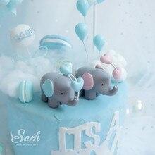 Сердце шар слон Торт Топперы птицы украшения день детей День Святого Валентина вечерние принадлежности для выпечки милые подарки