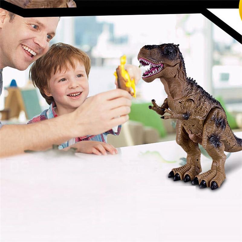 Control remoto caminar dinosaurio juguete fuego respiración agua Spray regalo de navidad niños juguete de alta calidad QA - 5