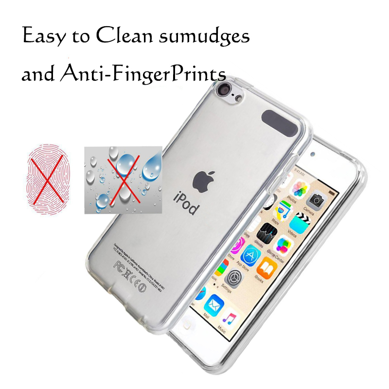For Apple iPod Touch 5 Touch 6 7 Case Soft TPU Silicone Back Case Crystal Transparent Slim Anti Slip Shockproof Cover Case in Fitted Cases from Cellphones Telecommunications