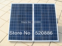 USA Stock No Tax 120w Folding Solar Panel With Controller And Battery Clips For 12v Battery