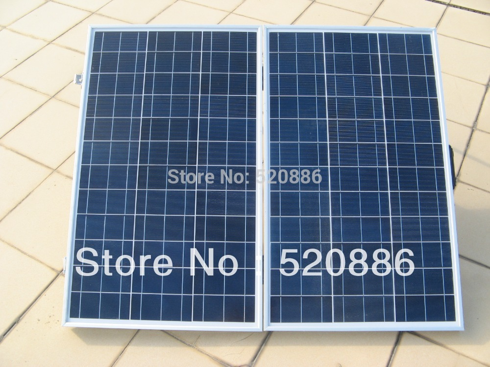 USA stock, no tax, 120w folding solar panel with controller and battery clips for 12v battery ,solar system, car, RV,camping